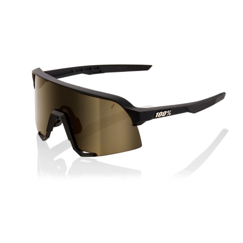 100% - S3 - SOFT TACT BLACK - SOFT GOLD MIRROR LENS