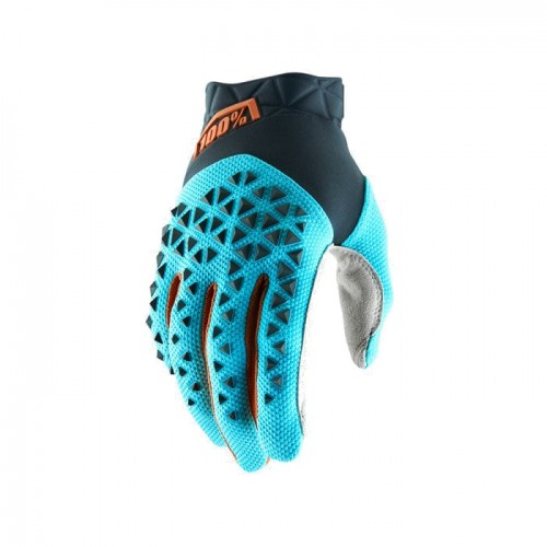 100% - AIRMATIC GLOVE - STEEL GREY ICE BLUE BRONZE
