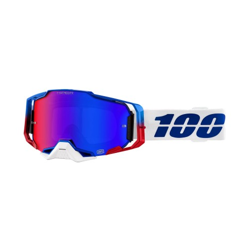 100% - ARMEGA - GENESIS HiPER BLUE/RED MIRROR LENS