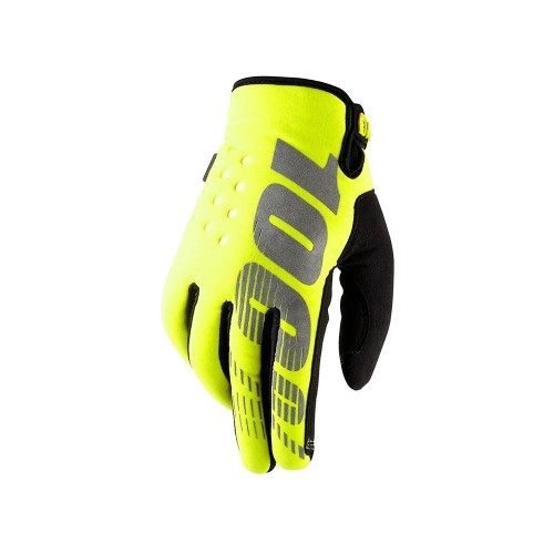 100% - BRISKER - COLD WEATHER GLOVE NEON YELLOW