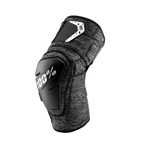 100% - FORTIS KNEE GUARD - GREY HEATHER BLACK