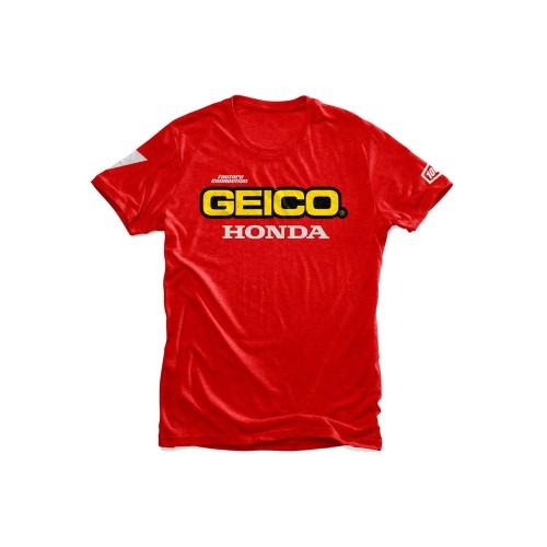 100% - SHIRT - STANDARD T-SHIRT GEICO/HONDA - RED