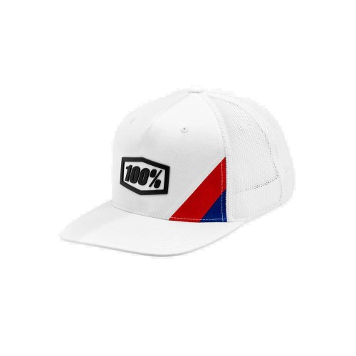 100% - HAT - CORNERSTONE TRUCKER WHITE