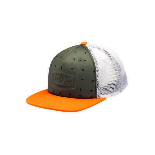 100% - HAT - STAMPED TRUCKER ORANGE