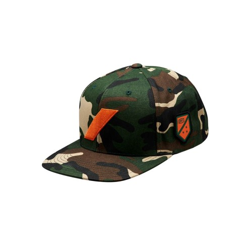 100% - HAT - STRIKEFORCE SNAPBACK CAMO ORANGE