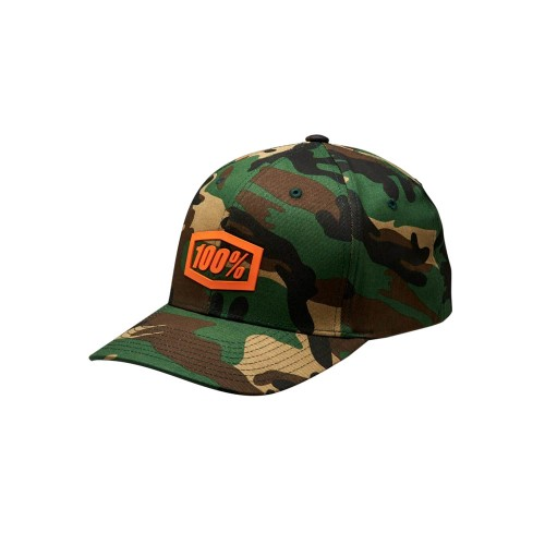 100% - HAT - TREK FLEXFIT CAMO