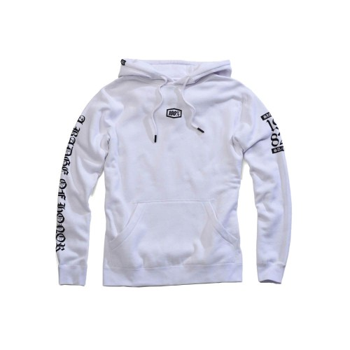 100% - FLEECE - PABLO HOODED SWEATSHIRT - WHITE