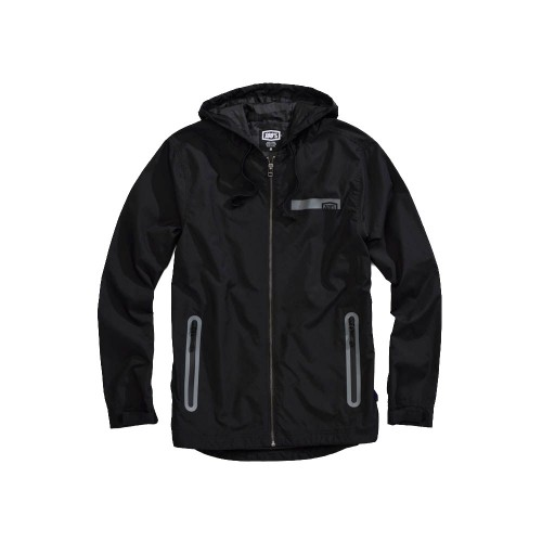 100% - FLEECE - STORBI LIGHTWEIGHT JACKET - BLACK