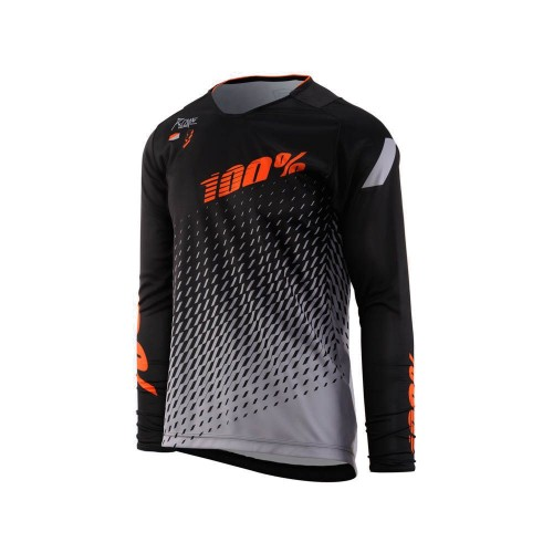 100% - JERSEY - R-CORE DH LS SUPRA BLACK GREY