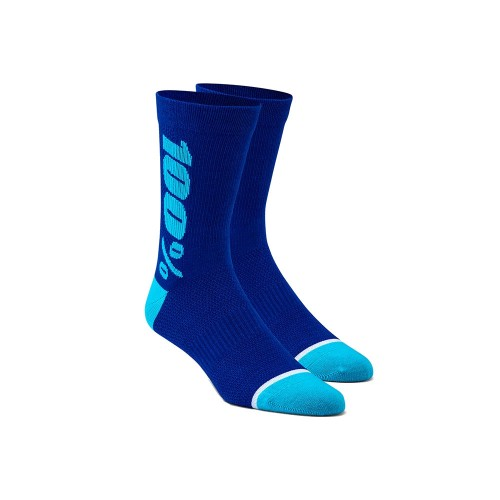 100% - SOCKS - RYTHYM MERINO WOOL PERFORMANCE SOCKS - BLUE