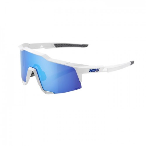 100% - SPEEDCRAFT LL - MATTE WHITE - HiPER BLUE MULTILAYER MIRROR