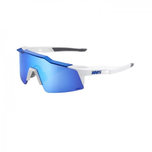 100% - SPEEDCRAFT SL - MATTE WHITE METALLIC BLUE - HiPER BLUE MULTILAYER MIRROR