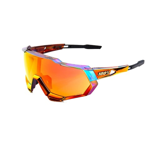 100% - SPEEDTRAP - PETER SAGAN CHROMIUM RED HIPER RED MULTILAYER MIRROR LENS