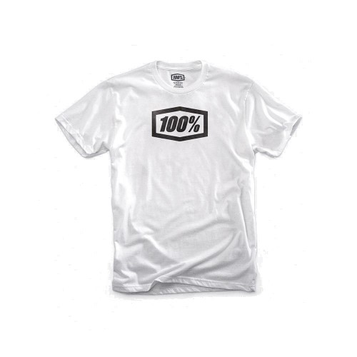 100% - SHIRT - ESSENTIAL TSHIRT WHITE