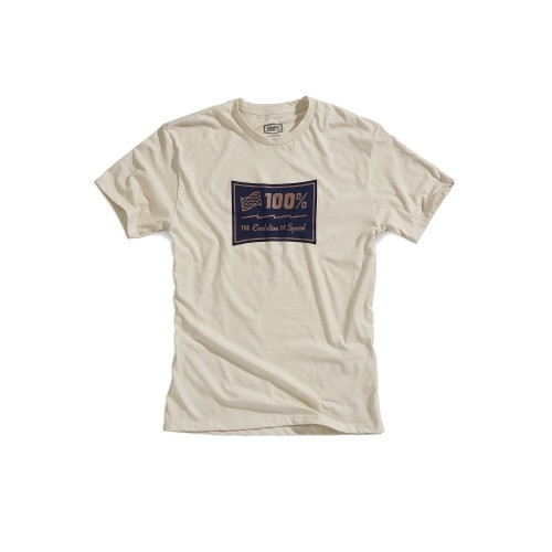 100% - SHIRT - EVOLUTION TSHIRT STONE HEATHER