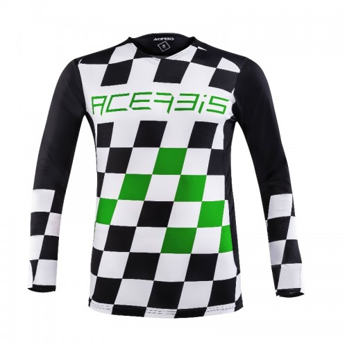 ACERBIS - START & FINISH MX JERSEY- BLACK GREEN
