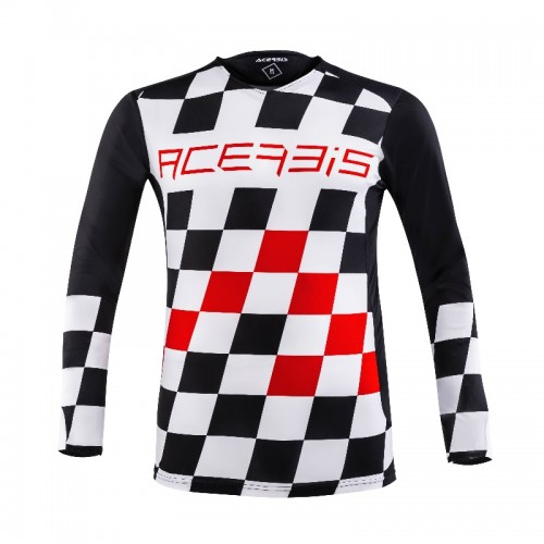 ACERBIS - START & FINISH MX JERSEY- BLACK RED