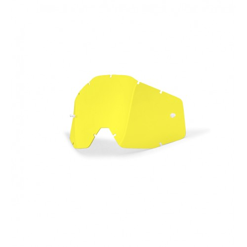 100% - RACECRAFT / ACCURI / STRATA ANTIFOG YELLOW LENS