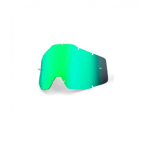 100% - RACECRAFT / ACCURI / STRATA ANTIFOG MIRROR GREEN LENS