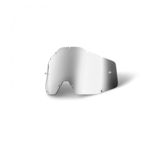 100% - RACECRAFT / ACCURI / STRATA ANTIFOG MIRROR SILVER LENS