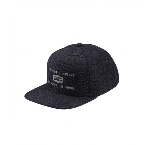 100% - HAT - BROOMLEY SNAPBACK HERRINGBONE
