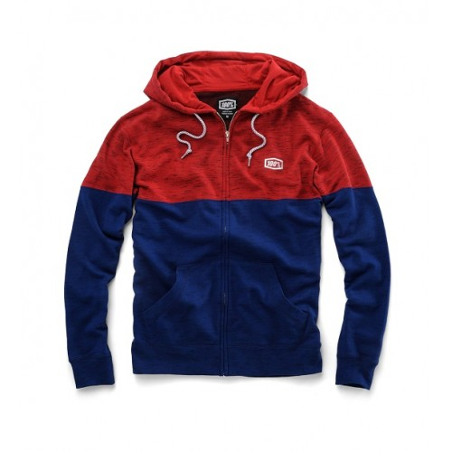 100% - FLEECE - ARVIUS RED NAVY (MODERN FIT)