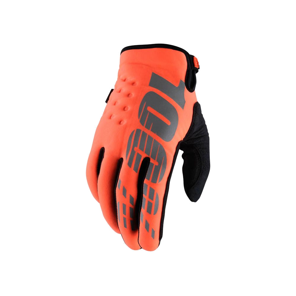 100% - BRISKER - FLUO ORANGE BLACK