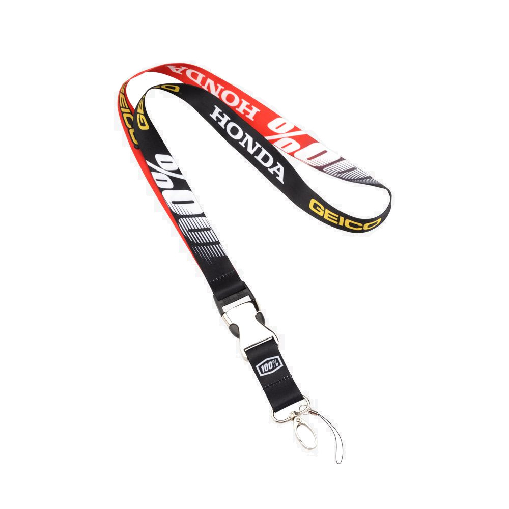 100% - ACCESSORIES - LANYARD GEICO HONDA - BLACK