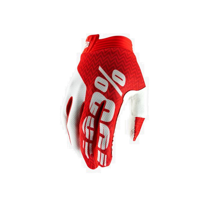 100% - iTRACK GLOVE - RED WHITE