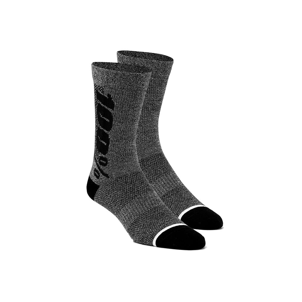 100% - SOCKS - RYTHYM MERINO WOOL PERFORMANCE SOCKS - CHARCOAL HEATHER