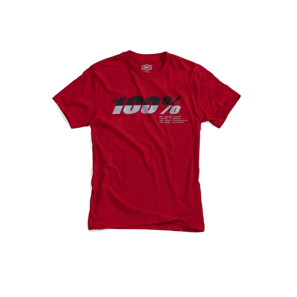 100% - SHIRT - BRISTOL TSHIRT RED