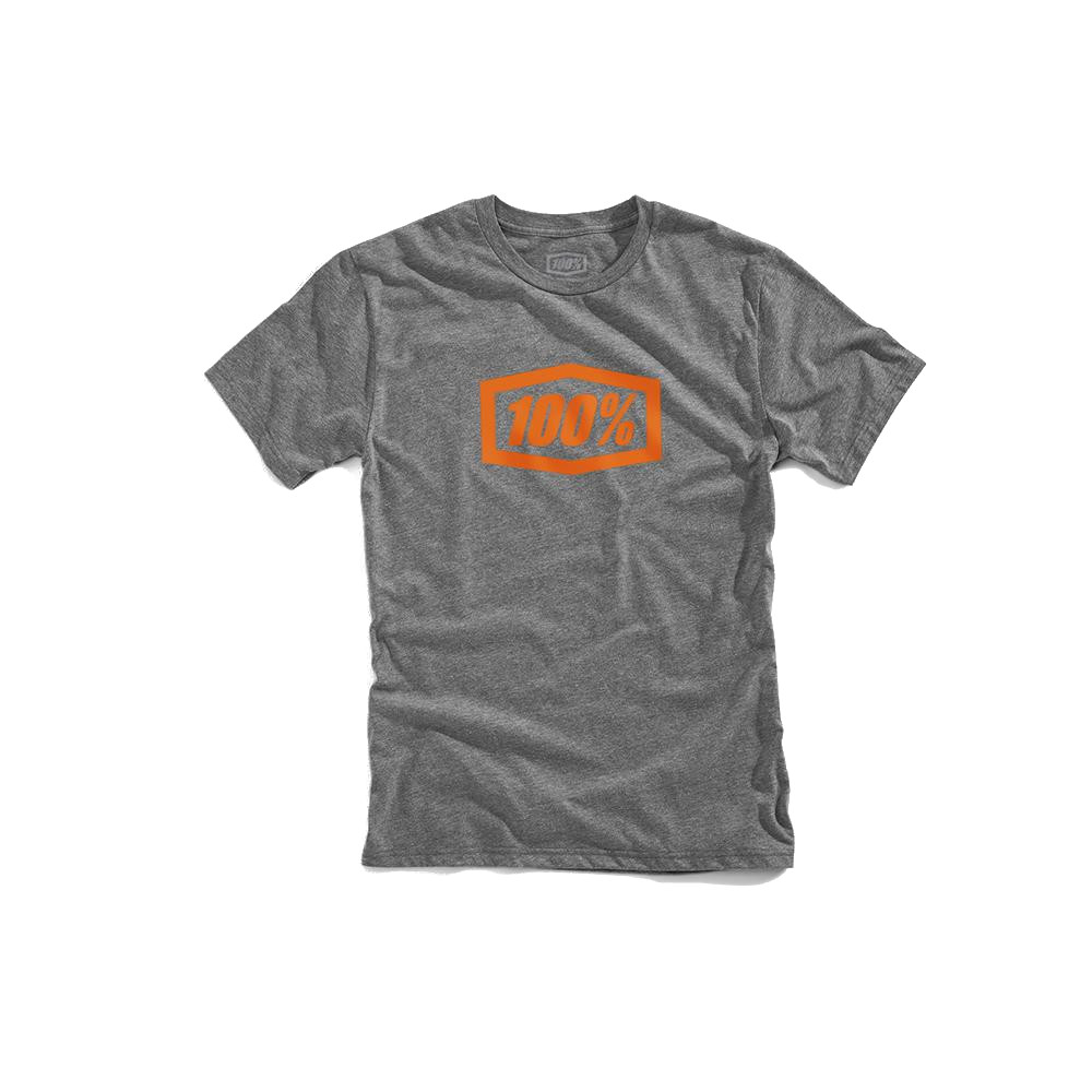 100% - SHIRT - ESSENTIAL TECH TEE GUNMETAL HEATHER