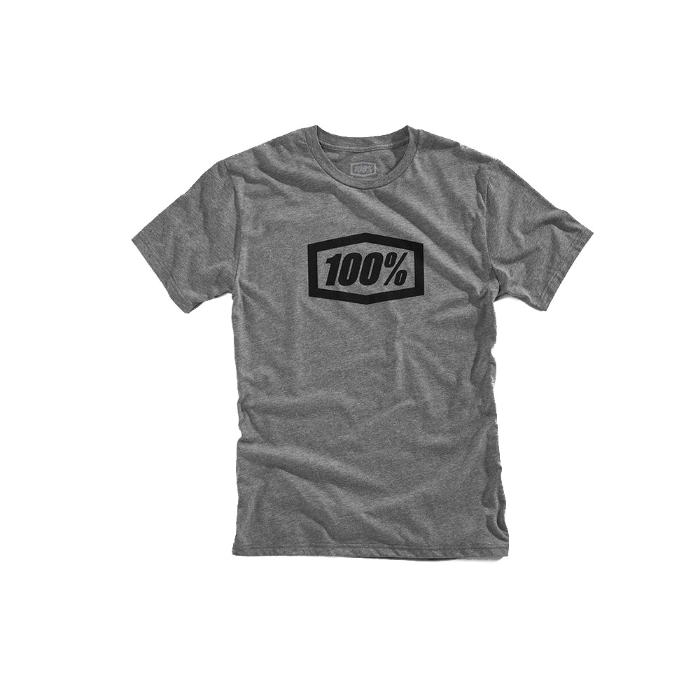 100% - SHIRT - ESSENTIAL TSHIRT GUNMETAL HEATHER