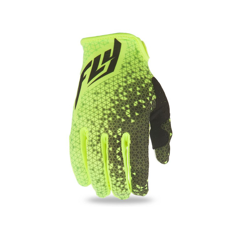 FLY RACING - LITE GLOVES - HIVIZ YELLOW BLACK